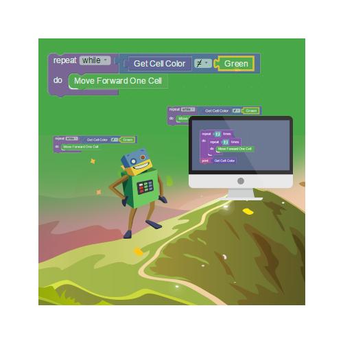 RoboGarden的任务重点是教授新的编程概念