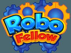 RoboFellow标志代表一个移动应用程序,通过编程控制您的机器人,这就像把积木块连接起来一样简单