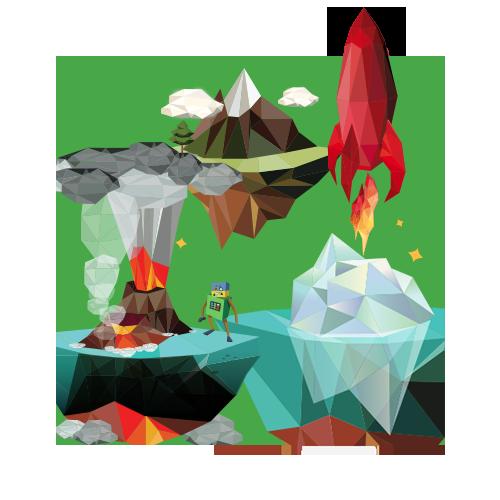 旅程包含在沉浸式世界中发生的故事,该故事由交互式图形和可视化界面组成。